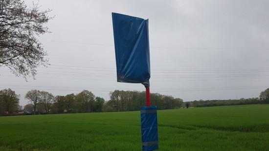 Bushaltestelle Emsener Weg außer Betrieb