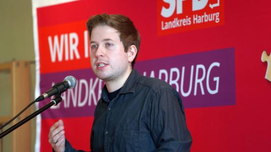 Kevin Kühnert spricht beim Neujahrsempfang in Marxen 2020