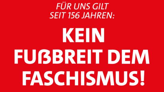 Kein Fussbreit dem Faschismus