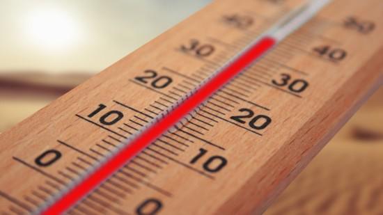 Thermometer mit knapp 40° C